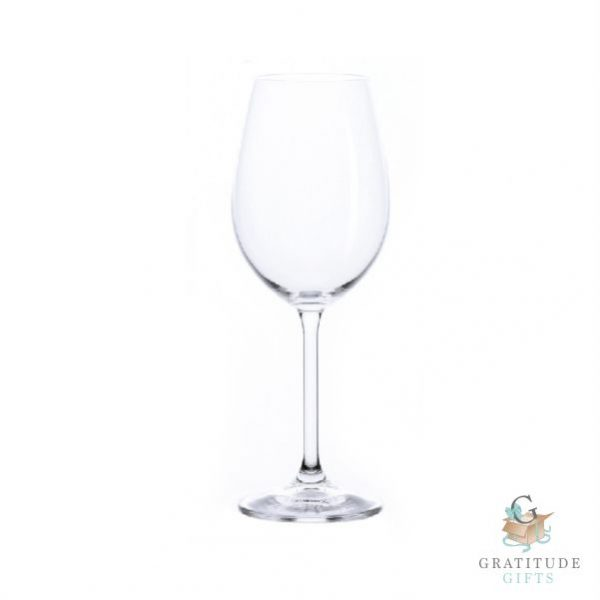 Bistro White Crystal Glass - Set of 6