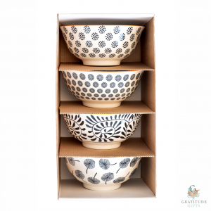 Medium Ceramic Bowl Box Set - Black Mix