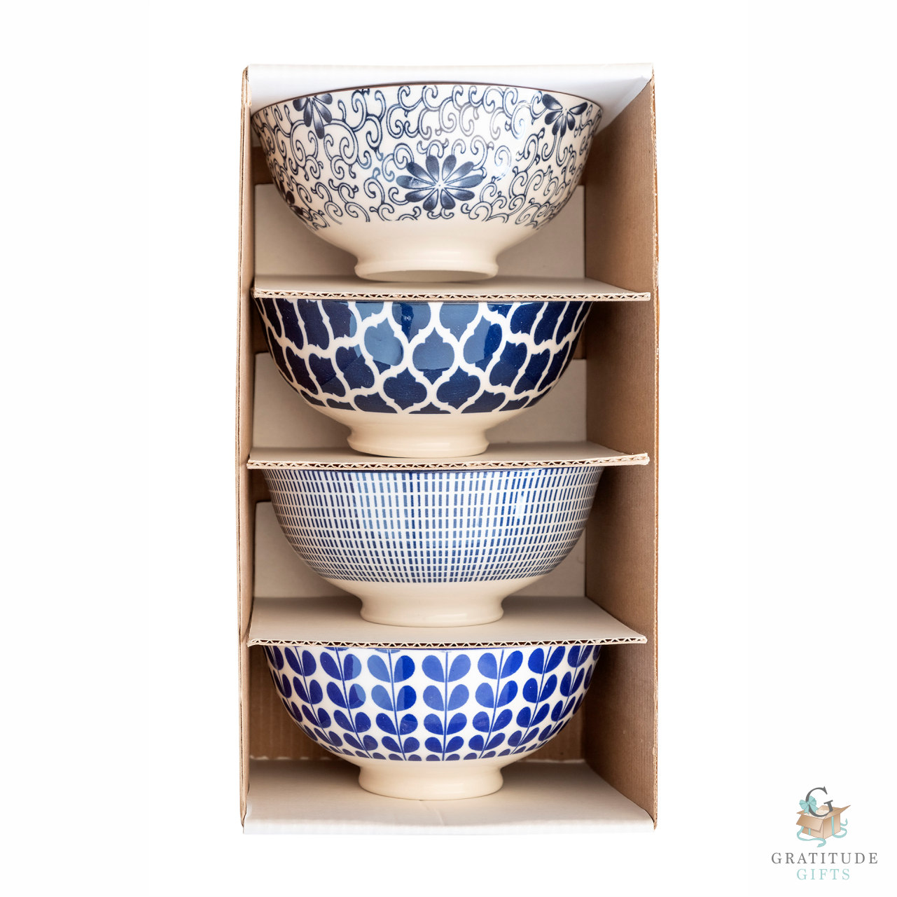 Medium Ceramic Bowl Box Set - Blue Mix