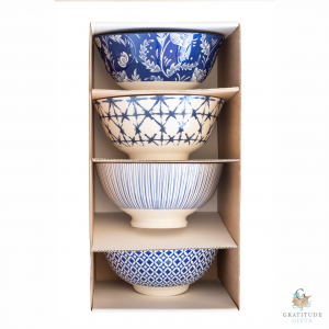 Small Ceramic Bowl Box Set - Blue Mix