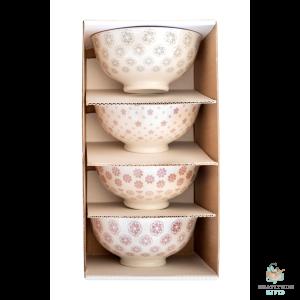 Small Ceramic Bowl Box Set - Lavender & Grey Mix