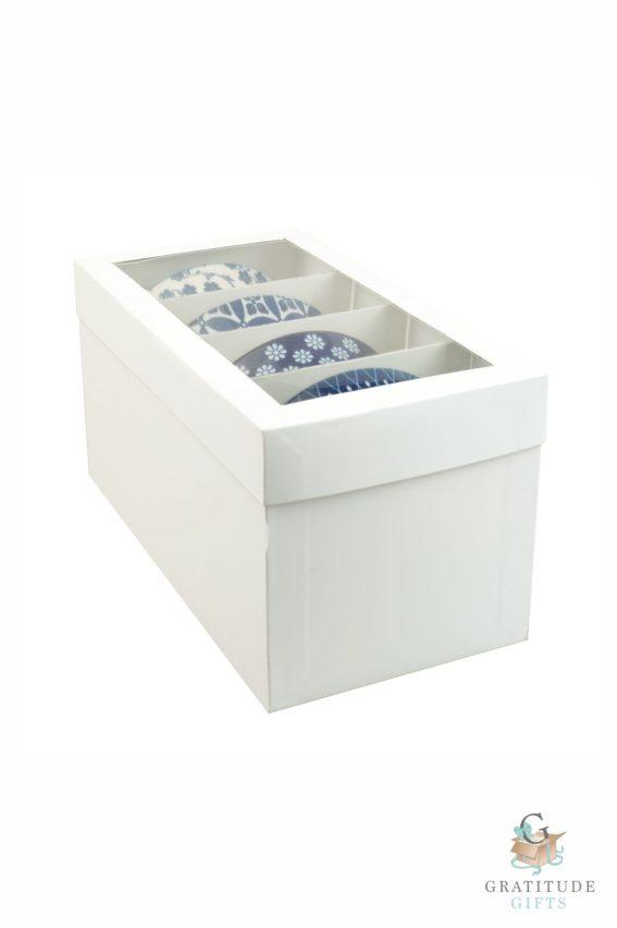 Small Ceramic Bowl Box Set - Blue & Yellow Mix