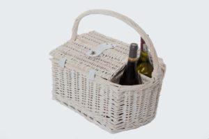 Wine Basket for 2 with Wine Bottle Holders