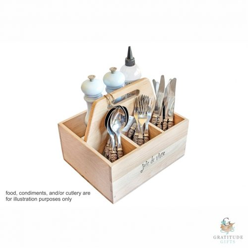 Joie de Vivre Style, Weathered Oak Cutlery Box