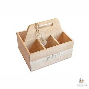 Joie de Vivre Style, Weathered Oak Cutlery Box